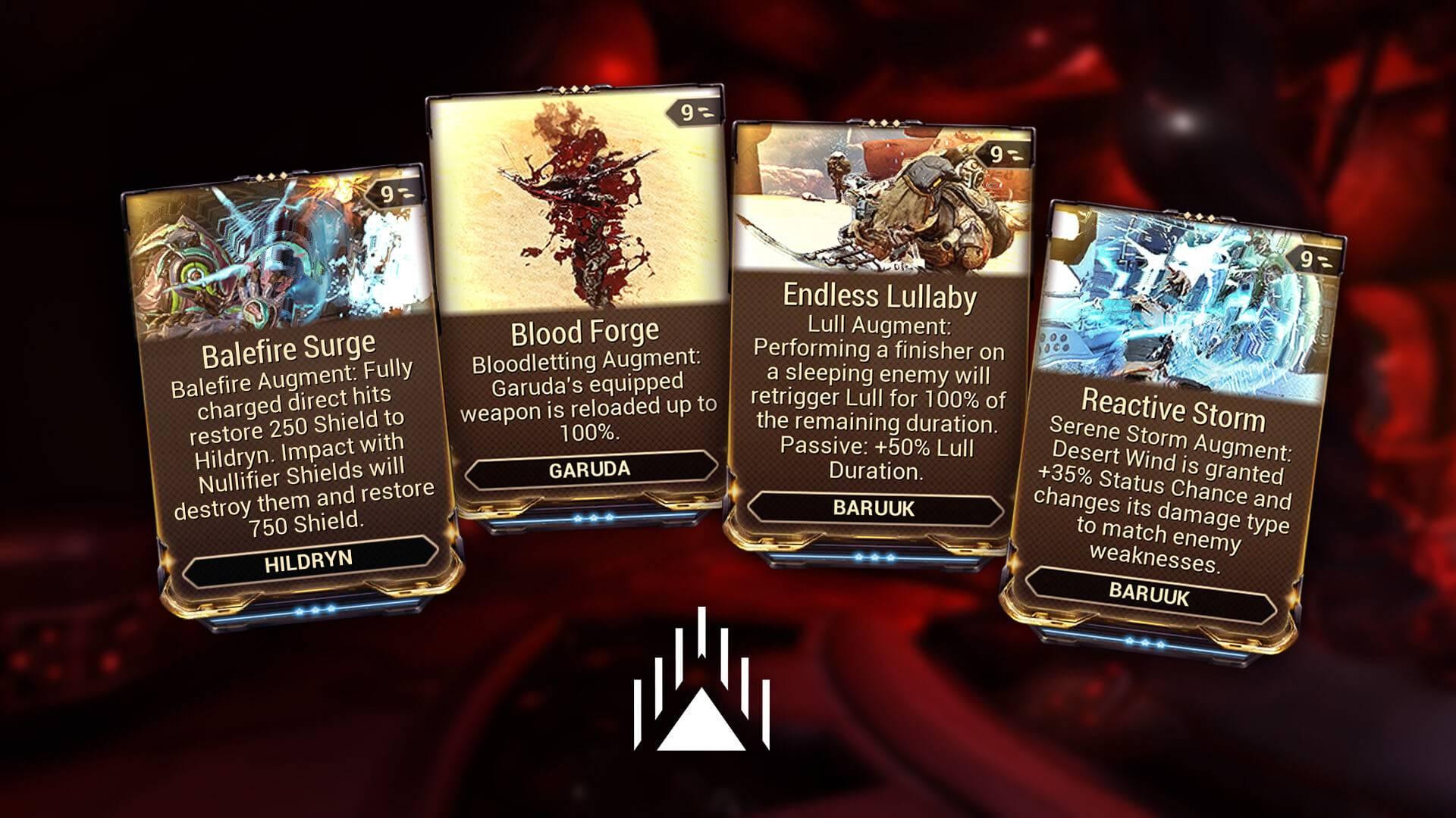 Augment Mods and descriptions for Garuda, Hildryn and Baruuk Warframes